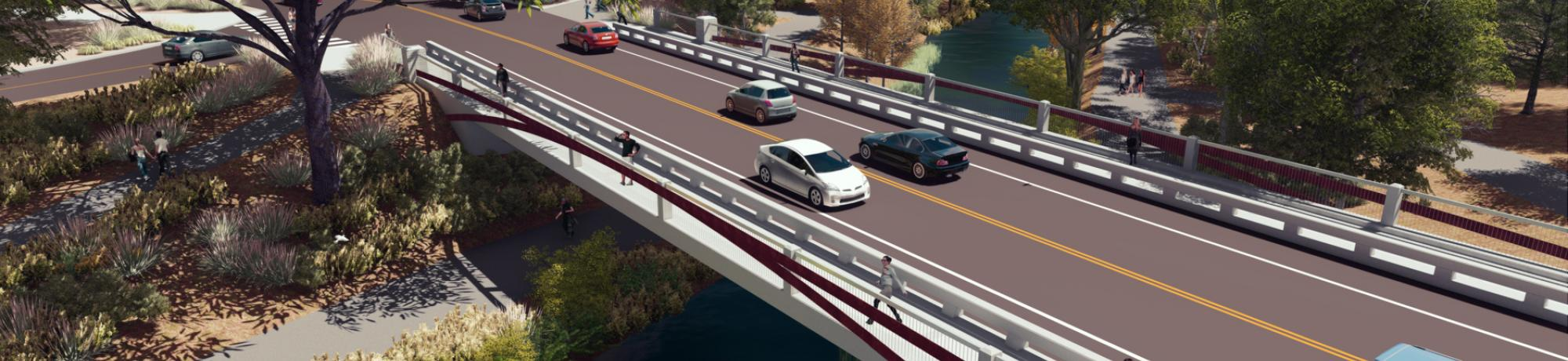 Rendering of the future La Rue Road Bridge.
