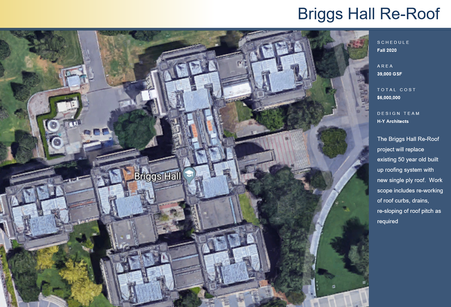 Briggs Hall Re-Roof