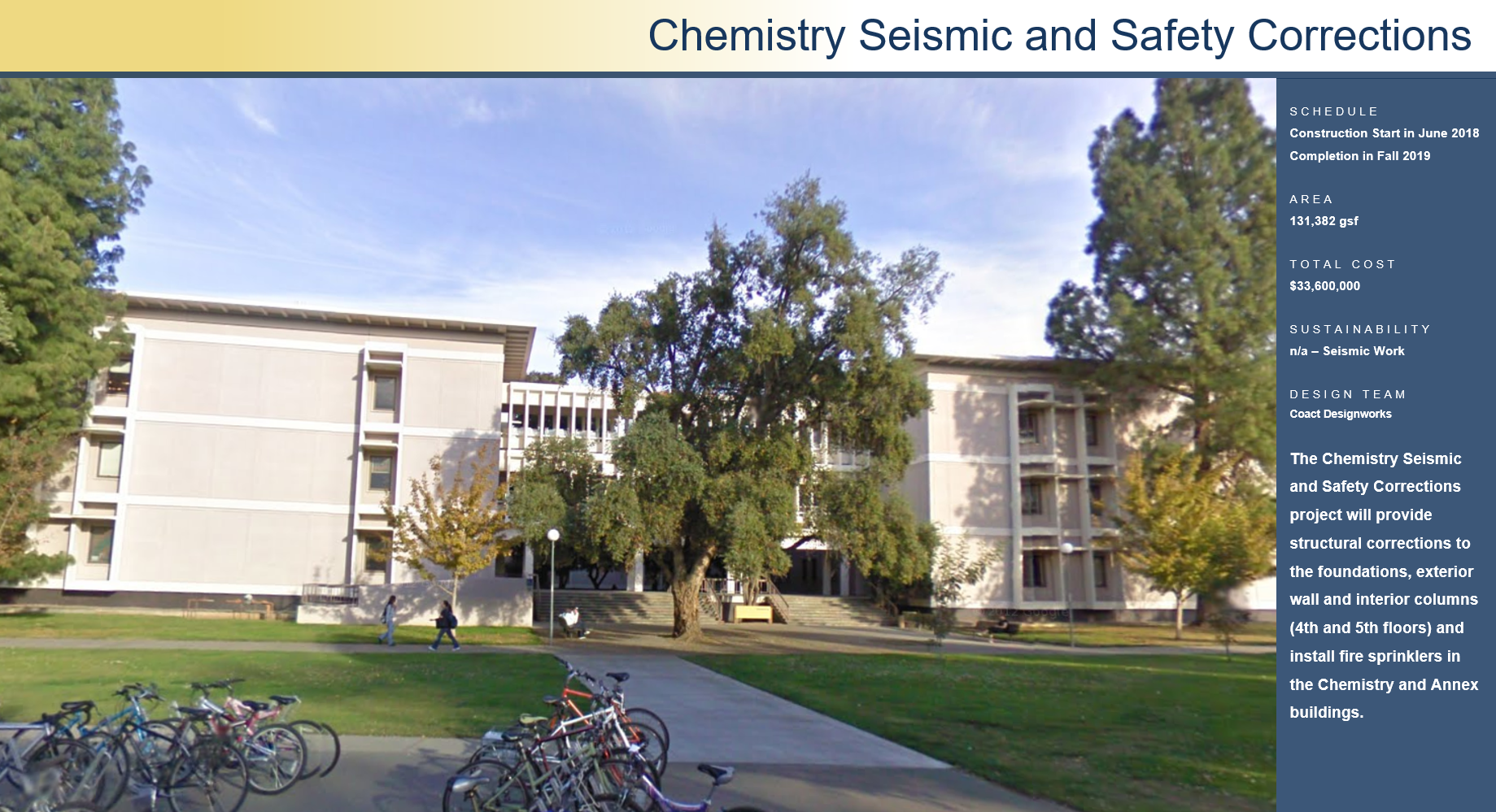 Chemistry Seismic and Safety Corrections
