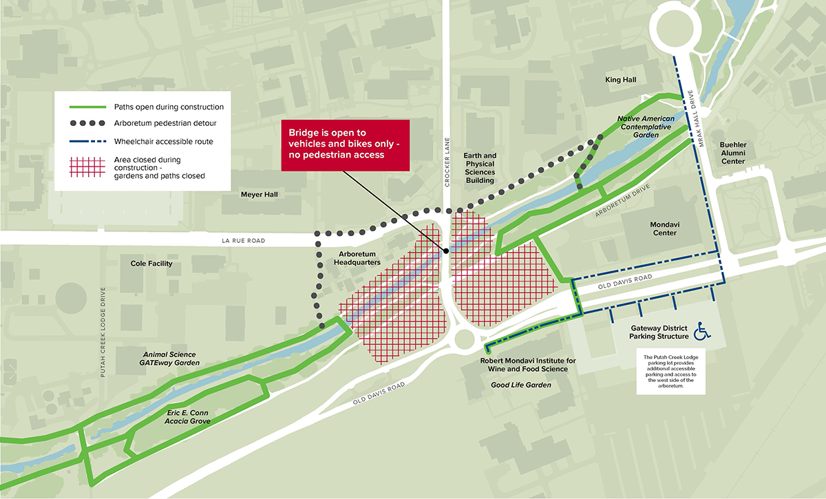 Image of detour map for the La Rue Road Bridge replacement project.