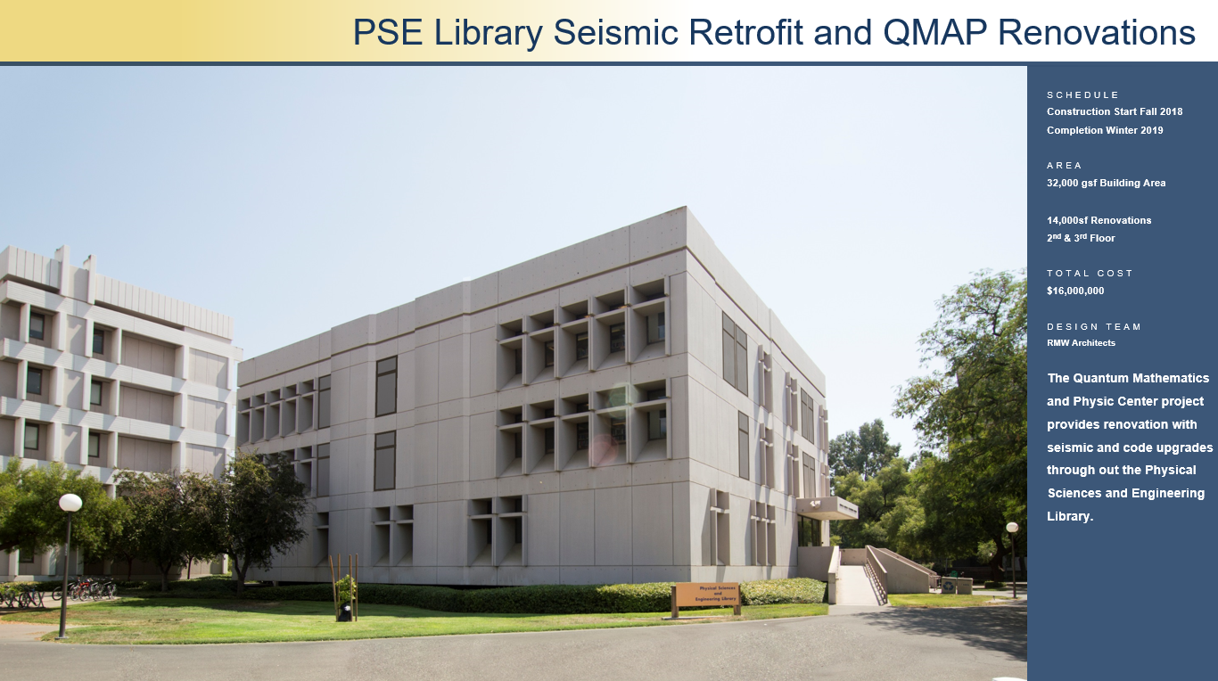 PSE Library Seismic Retrofit and QMAP Renovations