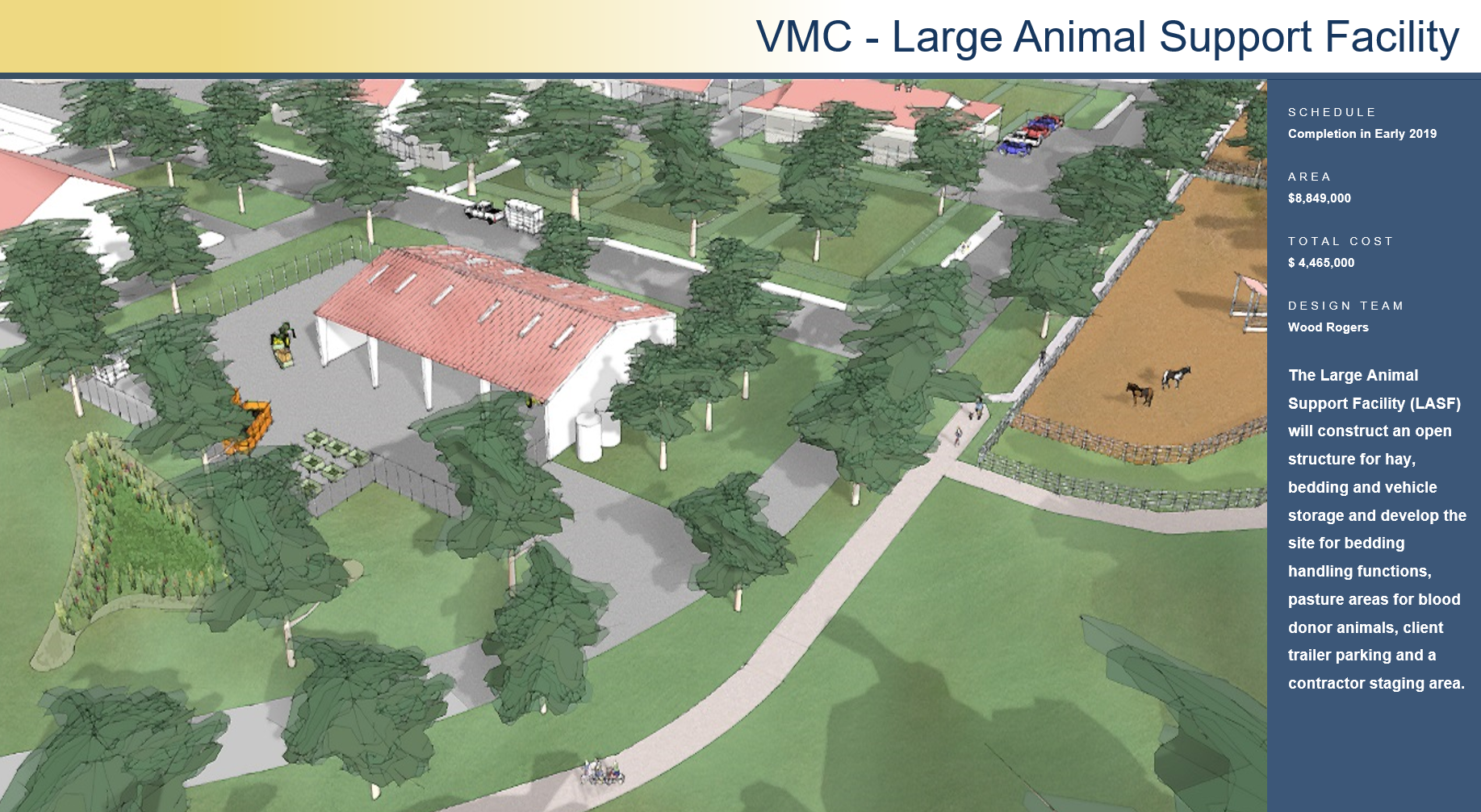 VMC Large Animal Support Facility