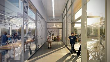 Rendering of UC Davis Engineering Student Design Center