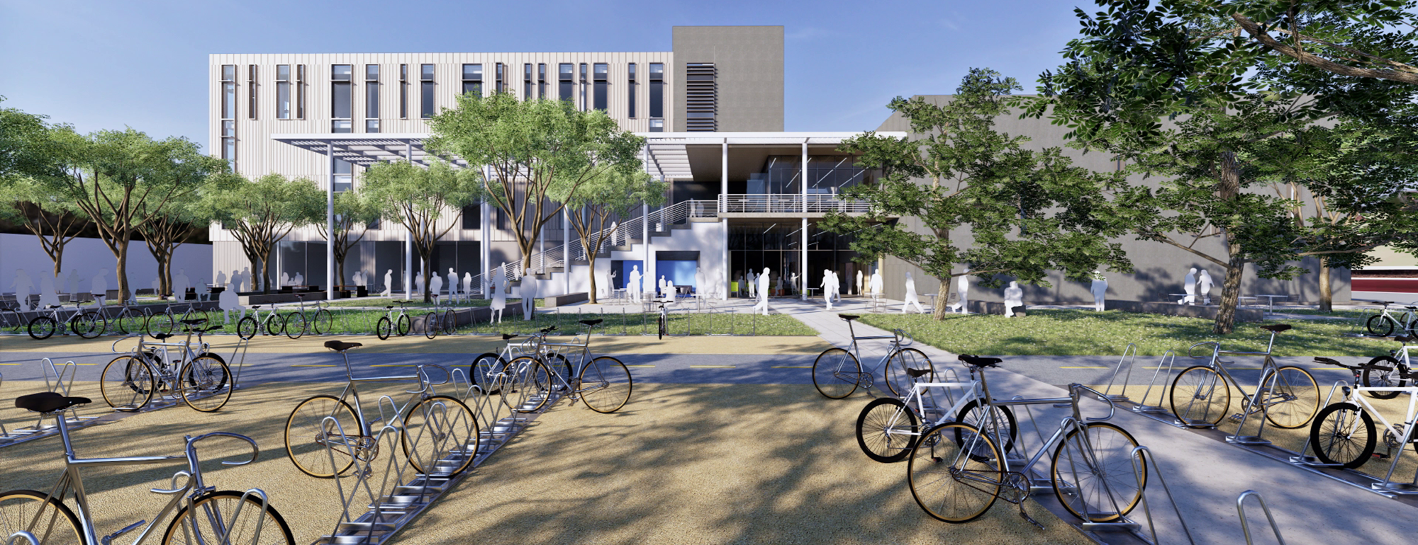 renderings and pans for the uc davis teaching learning complex