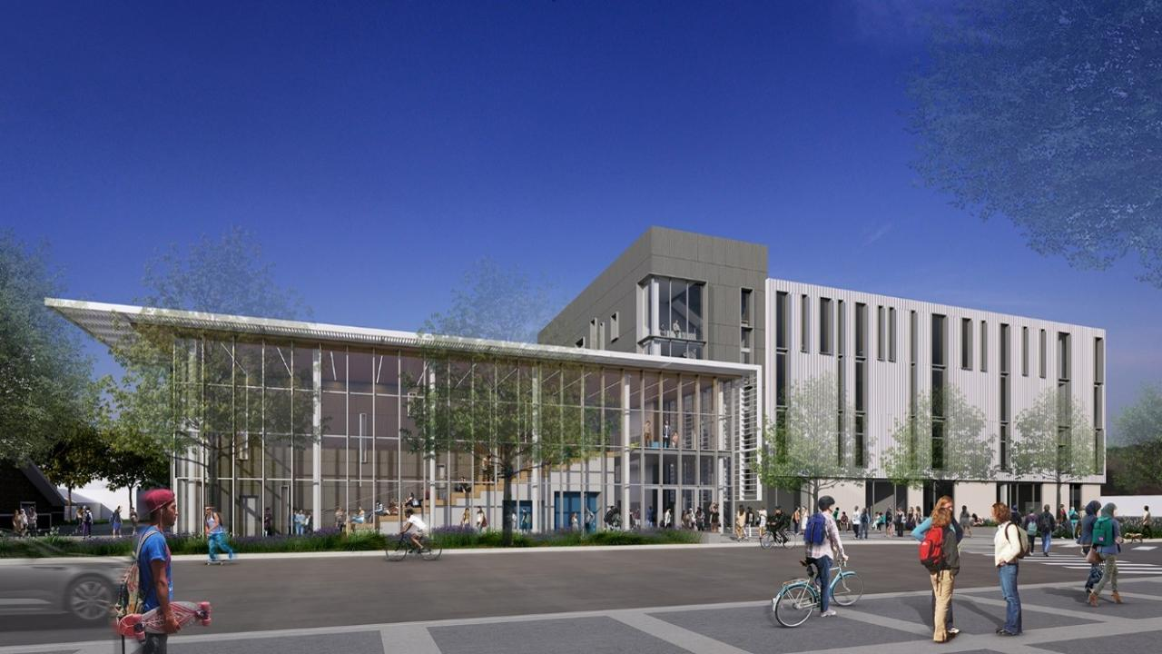 north elevation rendering of teaching and learning complex