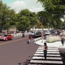 Renderings of replacement La Rue Bridge at UC Davis