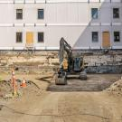 Seismic construction on Chemistry Building